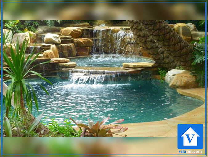 آبنمای آبشاری ویلاطور