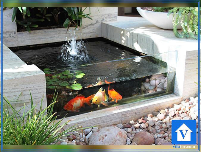 حوض و آبنما در طراحی خانه ویلاطور
