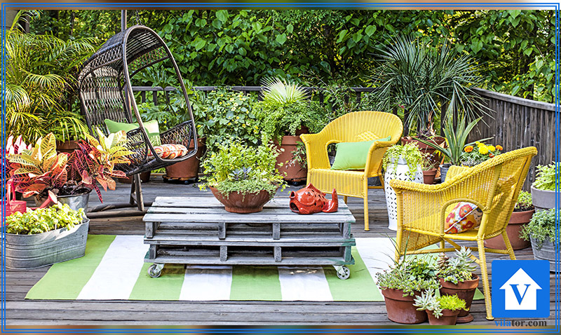 محوطه سازی با فضای سبز گلکاری چمن ویلاطور
