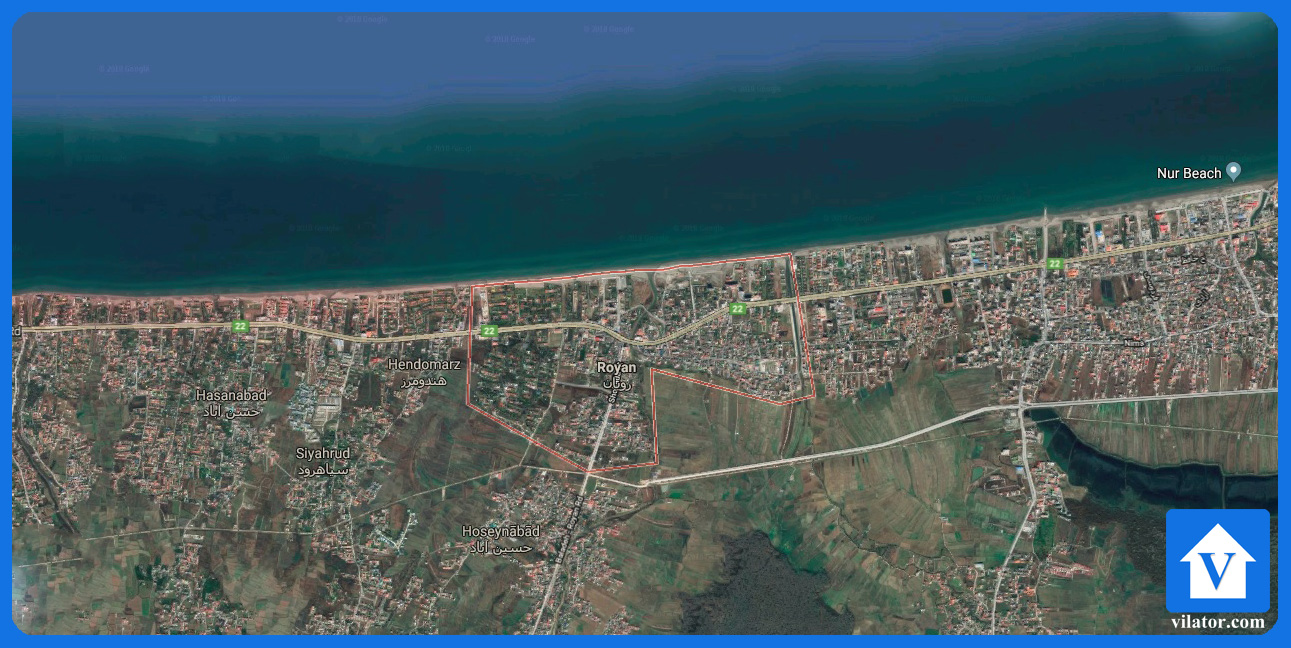 موقعیت جغرافیایی رویان ویلاطور