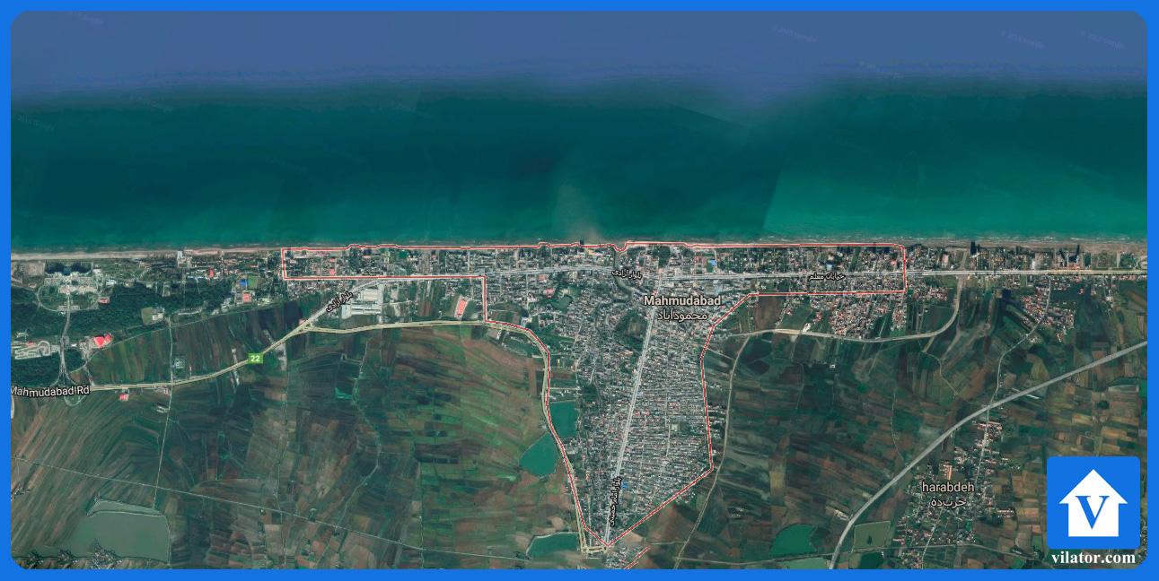 موقعیت جغرافیایی محمودآباد ویلاطور