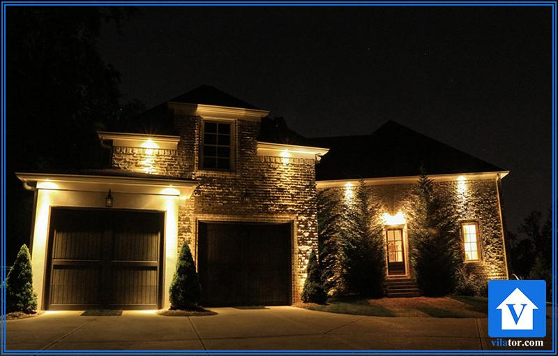 نورپردازی امنیتی خانه ویلاطور