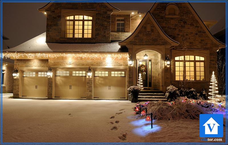 نورپردازی خانه در زمستان ویلاطور