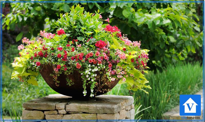 گلدان گلکاری ویلاطور