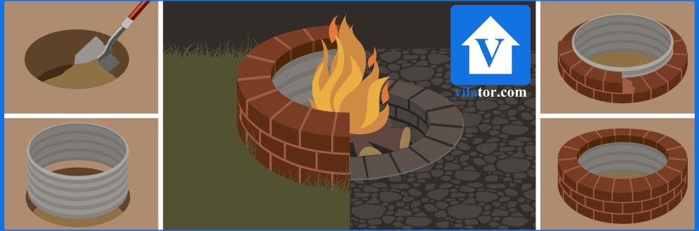 گودال آتش fire pit ویلاطور